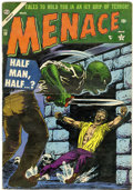 Golden Age (1938-1955):Horror, Menace #10 (Atlas, 1954) Condition: FN-....