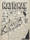 Original Comic Art:Covers, Lou Fine National Comics #11 Uncle Sam Cover Original Art(Quality, 1941)....