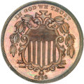 Patterns, 1866 5C Shield Five Cents, Judd-508, Pollock-592, High R.6, PR64Brown NGC....