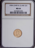 Commemorative Gold: , 1904 G$1 Lewis and Clark MS64 NGC. NGC Census: (386/285). PCGSPopulation (631/391). Mintage: 10,025. Numismedia Wsl. Price...