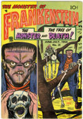 Golden Age (1938-1955):Horror, Frankenstein Comics #31 (Prize, 1954) Condition: FN....
