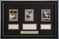 Autographs:Others, 300 Home Run 300 Stolen Base Signed Display....