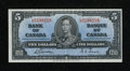 Canadian Currency: , BC-23b $5 1937.. ...