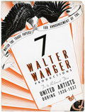 Memorabilia:Movie-Related, Walter Wanger Trade Flyer (United Artists, 1936)....
