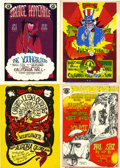 Music Memorabilia:Posters, California Hall Concert Handbills Lot of 4 (1967).... (Total: 4Items)