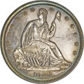 Patterns, 1838 P50C Seated Liberty Half Dollar, Judd-80 Restrike, Pollock-87, High R.7, PR65 NGC....