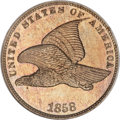 Patterns, 1858 P1C Flying Eagle Cent, Judd-193, Pollock-236, R.5, PR66NGC....