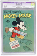Golden Age (1938-1955):Cartoon Character, Four Color #27 Mickey Mouse (Dell, 1943) CGC Apparent FN+ 6.5Slight (A) Cream to off-white pages....