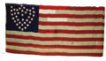 Military & Patriotic:Civil War, 23rd Army Corps Flag Made from Captured Confederate Flags in Macon, Georgia Converted into a U.S. Stars & Stripes U. S. Flag...