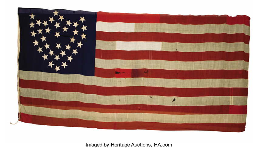 23rd army corps flag made from captured confederate flags in lot