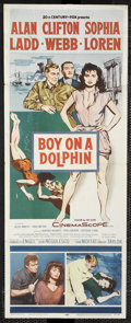 "Movie Posters:Adventure, Boy on a Dolphin (20th Century Fox, 1957). Insert (14"" X 36"").Adventure. Starring Alan Ladd, Sophia Loren and Clifton Webb...."