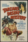"Movie Posters:Adventure, Tarzan's Desert Mystery (RKO, R-1949). One Sheet (27"" X 41"").Adventure. Starring Johnny Weissmuller, Nancy Kelly, Johnny Sh..."