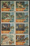 "Movie Posters:Adventure, Tarzan's Magic Fountain (RKO, 1949). Lobby Card Set of 8 (11"" X14""). Adventure. Starring Lex Barker, Brenda Joyce, Albert D...(Total: 8 Items)"