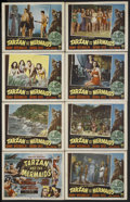 "Movie Posters:Adventure, Tarzan and the Mermaids (RKO, 1948). Lobby Card Set of 8 (11"" X14""). Adventure. Starring Johnny Weissmuller, Brenda Joyce, ...(Total: 8)"