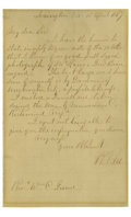 Autographs:Military Figures, Autograph Letter Signed by Robert E. Lee Accompanied by a Signed Carte de Visite of the General in Confederate Uniform S... (Total: 2 )