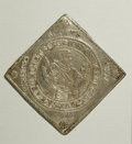 German States:Saxony, German States: Saxony. Johann Georg I Klippe Taler 1615, KM82, Davenport 7587, VF+, surfaces lightly tooled and repair marks in all four co...