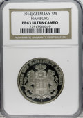 German States:Hamburg, German States: Hamburg. 3 Mark 1914J, KM296, Proof 63 Ultra Cameo NGC, fully brilliant and attractive, just a few faint obverse hairlines k...