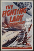"""Movie Posters:War, The Fighting Lady (20th Century Fox, 1944). One Sheet (27"""" X 41"""").War Documentary. Narrated by Lt. Robert Taylor. Directed ..."""