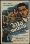"Movie Posters:Mystery, Philo Vance's Secret Mission (PRC, 1947). One Sheet (27"" X 41"").Mystery. Starring Alan Curtis, Sheila Ryan, Tala Birell, Fr..."