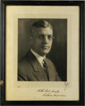 Autographs:Photos, 1936 William Harridge Signed Photograph. Tremendous visual appeal is a hallmark of the vintage print seen here of former AL...