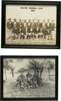 Baseball Collectibles:Others, Early Texas Baseball Photographs. Two vintage baseball photos, eachaffording a fantastic look at the classic stylings of d...