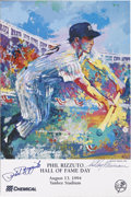 Autographs:Others, LeRoy Neiman and Phil Rizzuto Phil Rizzuto Dual-Signed Poster.Neiman did the poster that was given away for Phil Rizzuto ...