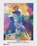 Autographs:Others, LeRoy Neiman Signed Reggie Jackson Day Poster. Mr. October washonored on Hall of Fame day in 1993 with a poster done by Ne...