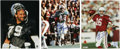 """Football Collectibles:Others, Football Stars Signed Photographs Lot of 3. Three color 8x10"""" photographs from former NFL stars, each signed. Included sub..."""