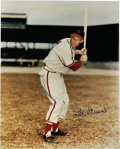 """Autographs:Photos, Stan Musial Signed Oversized Photograph. Stan the Man has signedthis oversized (16x20"""") color photograph in perfect 10/10 ..."""