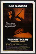 """Movie Posters:Thriller, Play Misty For Me (Universal, 1971). One Sheet (27"""" X 41"""").Thriller. Starring Clint Eastwood, Jessica Walter, Donna Mills, ..."""