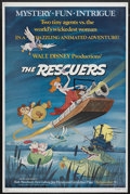"Movie Posters:Animated, The Rescuers (Buena Vista, 1977). One Sheet (27"" X 41""). Animated.Starring Bob Newhart, Eva Gabor , Geraldine Page, Joe Fly..."