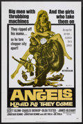"Movie Posters:Action, Angels Hard as They Come (New World, 1971). One Sheet (27"" X 41"").Action. Starring Scott Glenn, Janet Wood, Gary Busey, Jam..."