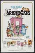 "Movie Posters:Animated, The Aristocats (Buena Vista, 1970). One Sheet (27"" X 41"").Animated. Starring the voices of Eva Gabor, Phil Harris,Hermione..."
