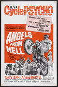 "Movie Posters:Action, Angels from Hell (American International, 1968). One Sheet (27"" X41""). Action. Starring Tom Stern, Arlene Martel, Ted Markl..."