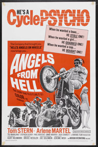 "Angels from Hell (American International, 1968). One Sheet (27"" X 41""). Action. Starring Tom Stern, Arlene Mar..."