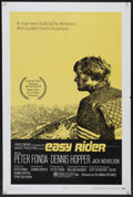 "Movie Posters:Drama, Easy Rider (Columbia, 1969). One Sheet (27"" X 41""). Drama. StarringPeter Fonda, Dennis Hopper, Jack Nicholson, Karen Black,..."