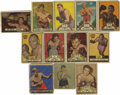 Boxing Cards:General, 1951 Topps Ringside and Others Boxing Cards Group Lot of 57. Thisgroup of classic boxing cards includes 55 cards from the 1...
