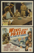 """Movie Posters:War, Wing and a Prayer (20th Century Fox, 1944). Title Lobby Card (11"""" X14"""") and Lobby Card (11"""" X 14""""). War. Starring Don Amech... (Total:2)"""