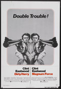 "Movie Posters:Crime, Dirty Harry/Magnum Force Combo (Warner Brothers, 1975). One Sheet(27"" X 41""). Crime. Starring Clint Eastwood, Harry Guardin..."