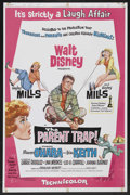 "Movie Posters:Comedy, The Parent Trap (Buena Vista, 1961). One Sheet (27"" X 41""). Comedy. Starring Hayley Mills, Maureen O'Hara, Brian Keith, Cath..."