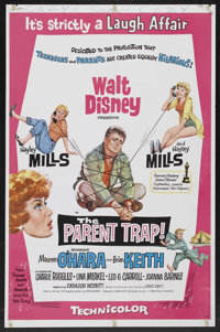 "The Parent Trap (Buena Vista, 1961). One Sheet (27"" X 41""). Comedy. Starring Hayley Mills, Maureen O'Hara, Bri..."
