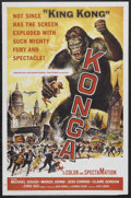 "Movie Posters:Science Fiction, Konga (American International, 1961). One Sheet (27"" X 41"").Science Fiction. Starring Michael Gough, Margo Johns, Jess Conr..."