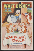 "Movie Posters:Animated, Chip an' Dale (RKO, R-1955). One Sheet (27"" X 41""). Animated.Starring the voices of Dessie Flynn, James MacDonald and Clare..."