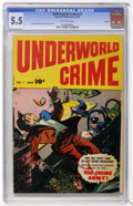 Golden Age (1938-1955):Miscellaneous, Underworld Crime #1 Aurora pedigree (Fawcett, 1952) CGC FN- 5.5 Off-white pages....