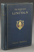 Books:Signed Editions, Wayne Whipple: The Story-Life of Lincoln Signed by JoshuaChamberlain (Philadelphia: The John C. Winston, Co., 1908)...