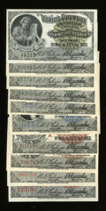 Expositions and Fairs, Set of Ten World's Columbian Exposition Tickets.... (Total: 10 )