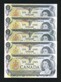Canadian Currency: , BC-46a; a BC-46a; BC-46a-i; BC-46b; BC-46b $1 1973. . ... (Total: 5notes)