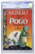 Golden Age (1938-1955):Funny Animal, Four Color #148 Albert the Alligator and Pogo Possum - File Copy(Dell, 1947) CGC VF 8.0 Off-white to white pages....