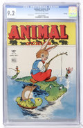 Golden Age (1938-1955):Funny Animal, Animal Comics #14 File Copy (Dell, 1945) CGC NM- 9.2 Cream tooff-white pages....