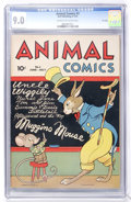 Golden Age (1938-1955):Funny Animal, Animal Comics #3 File Copy (Dell, 1943) CGC VF/NM 9.0 Cream tooff-white pages....